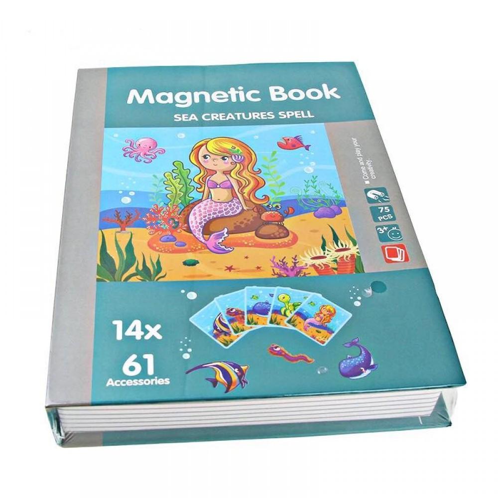 Carte magnetica mica sirena si animalele marine.