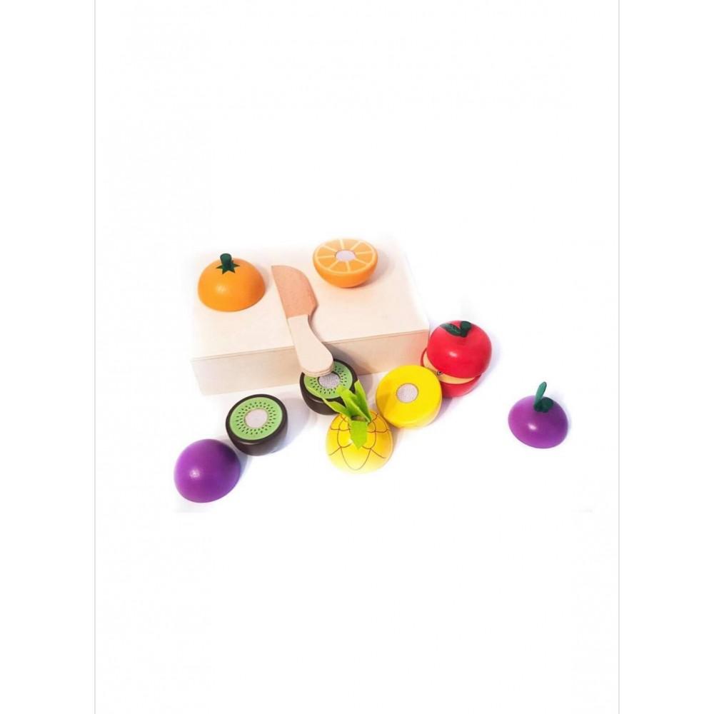 Fructe de taiat din lemn in tavita